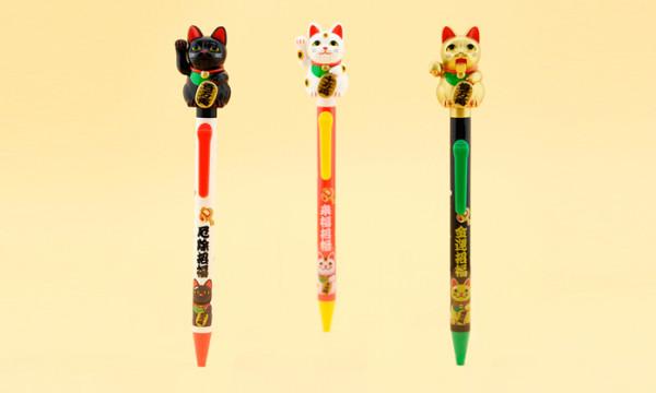 招き猫ペン